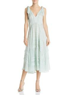 Rebecca Taylor Pleated Silk Dress