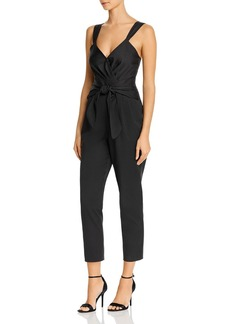 Rebecca Taylor Pleated V-Neck Jumpsuit