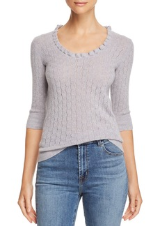Rebecca Taylor Pointelle Wool Sweater