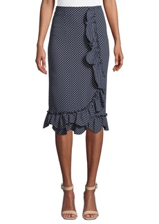 Rebecca Taylor Polka Dot Ruffle Skirt