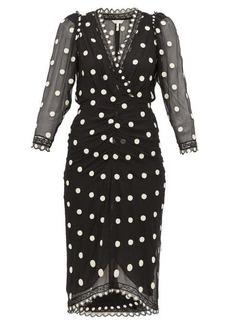 Rebecca Taylor Polka-dot silk-chiffon midi dress