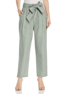 La Vie Rebecca Taylor Poplin Tie-Waist Pants
