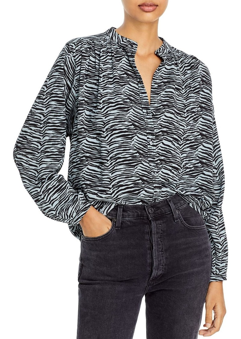 Rebecca Taylor Printed Button Front Shirt