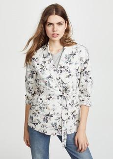 Rebecca Taylor Printed Linen Jacket