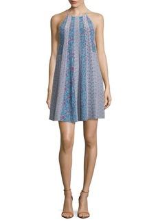 Rebecca Taylor Printed Silk Halter Dress
