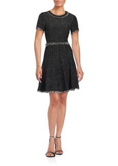Rebecca Taylor Rio Pleated Frayed Dress