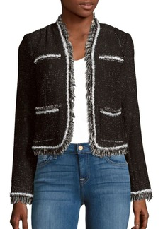 Rebecca Taylor Rio Tweed Long Sleeve Jacket