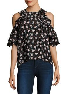 Rosalie Floral Cold-Shoulder Top