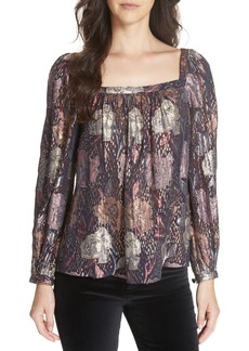 Rebecca Taylor Rose Clip Blouse