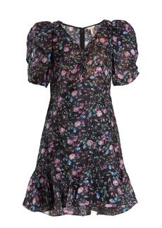 Rebecca Taylor Ruby floral-print silk-blend fil coupé dress