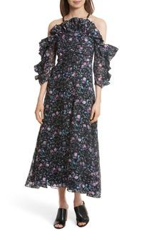 Rebecca Taylor Ruby Organza Midi Dress