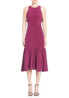 Rebecca Taylor Ruffle Cutout Dress