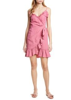 Rebecca Taylor Ruffle Detail Cotton & Linen Dress