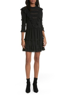 Rebecca Taylor Ruffle Silk Dress