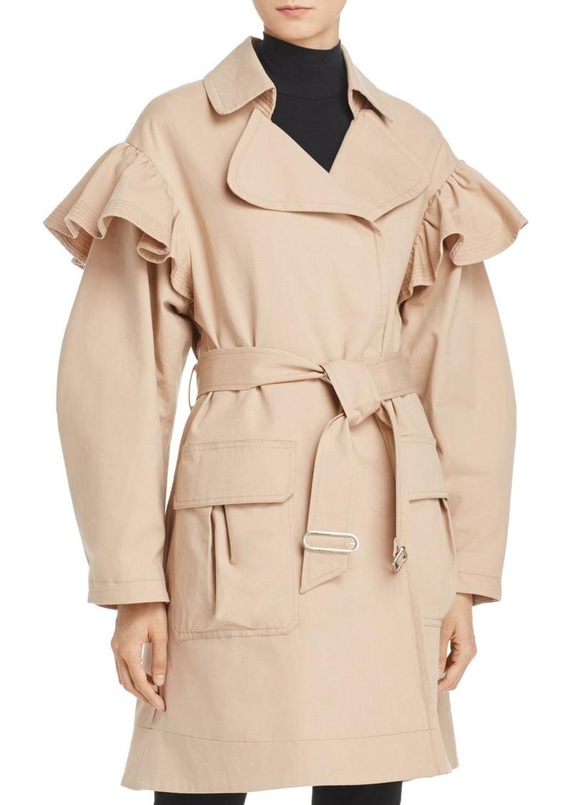 Rebecca Taylor Ruffle Trench Coat