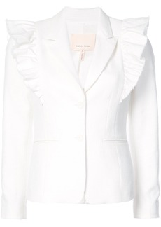 Rebecca Taylor ruffle-trim fitted jacket