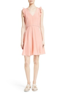 Rebecca Taylor Ruffle Trim Silk Dress