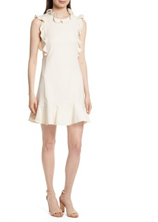 Rebecca Taylor Ruffle Trim Suit Dress