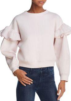 Rebecca Taylor Ruffle-Trimmed Sweatshirt