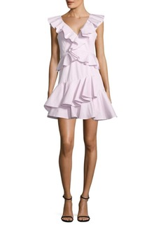 Rebecca Taylor Ruffled Cotton Fit-&-Flare Dress