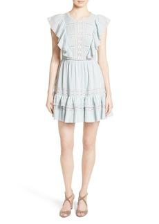 Rebecca Taylor Ruffled Cotton Gauze Dress