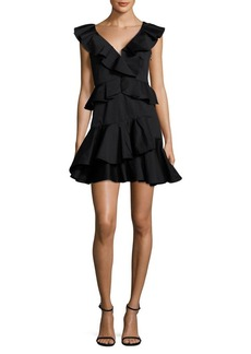 Rebecca Taylor Ruffled Fit-&-Flare Dress