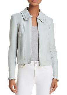 Rebecca Taylor Ruffled Leather Jacket
