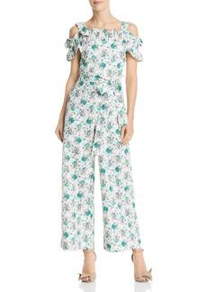 Rebecca Taylor Ruffled Off-the-Shoulder Carnation-Print Jumpsuit