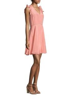 Rebecca Taylor Ruffled Silk Dress