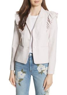 Rebecca Taylor Ruffled Slub Jacket