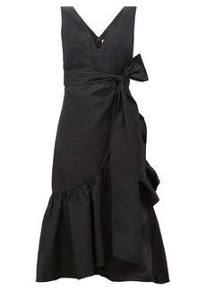 Rebecca Taylor Ruffled taffeta wrap dress