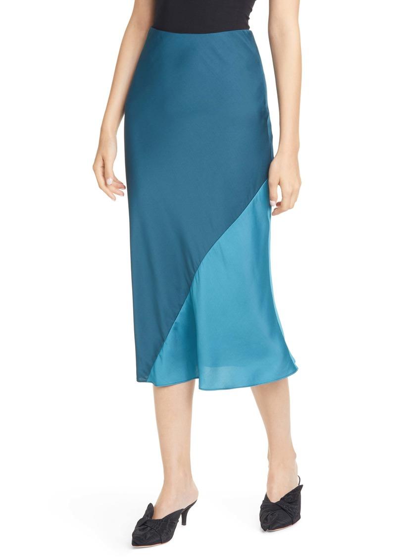 Rebecca Taylor Satin Midi Skirt