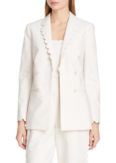 Rebecca Taylor Scallop Detail Jacket
