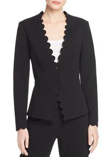 Rebecca Taylor Scallop-Edge Suit Jacket