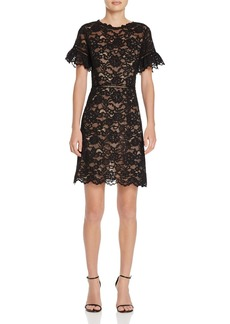 Rebecca Taylor Scalloped Lace Dress