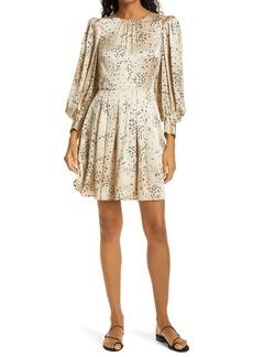 Rebecca Taylor Scattered Fleur Long Sleeve Silk Dress