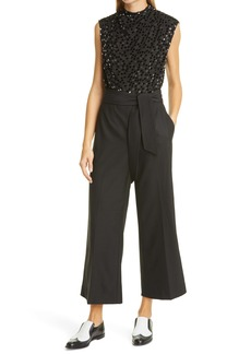 Rebecca Taylor Sequin Bodice Sleeveless Jumpsuit