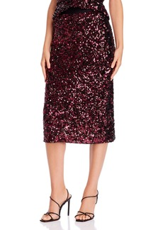 Rebecca Taylor Sequined Midi Skirt