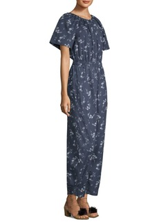 Rebecca Taylor Short Sleeve Floral Jumpsuit