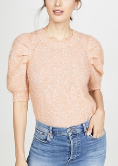 Rebecca Taylor Short Sleeve Optic Tweed Pullover