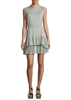 Rebecca Taylor Short-Sleeve Tiered Jersey Tank Dress