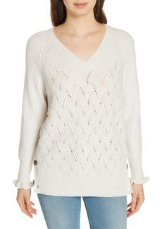 Rebecca Taylor Side Button Sweater