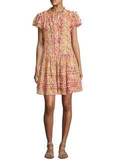 Silk Button-Front Dress