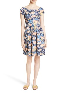 Rebecca Taylor Floral Fit & Flare Dress
