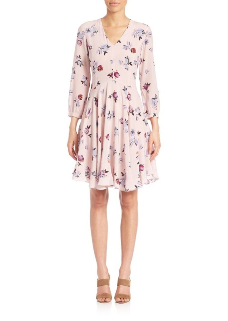 Rebecca Taylor Silk Floral-Print Dress
