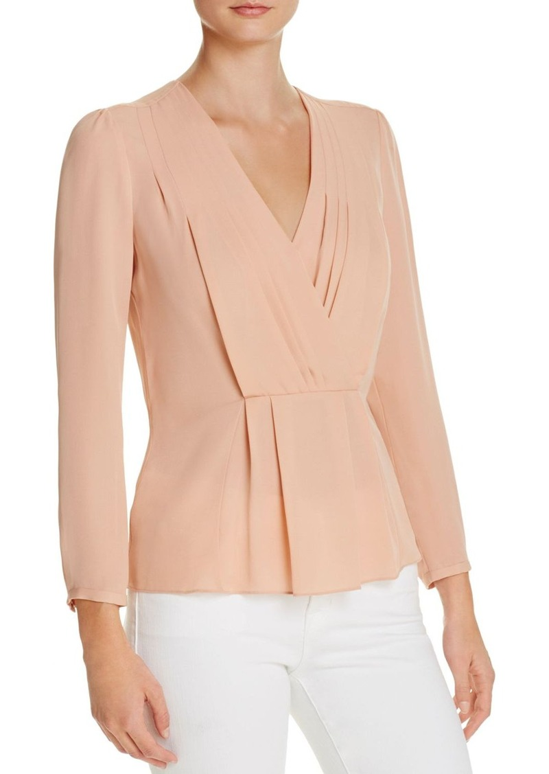 Rebecca Taylor Silk Georgette Wrap Top