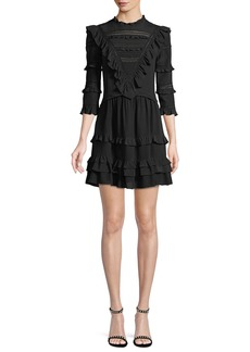 Rebecca Taylor Silk Lace Mini Dress