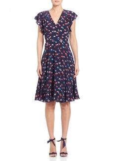 Rebecca Taylor Silk Sakura A-Line Dress