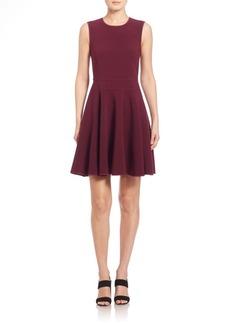 Rebecca Taylor Silk Trim Fit-&-Flare Dress