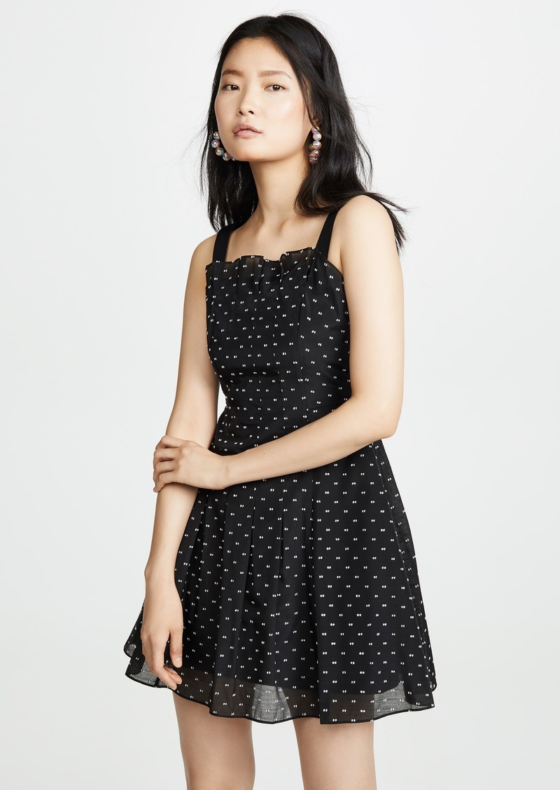 Rebecca Taylor Sleeveless Birdseye Dot Dress